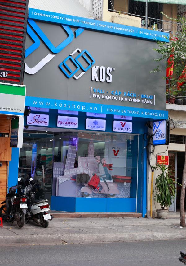 Showroom KOS Shop 156 Hai Bà Trưng Phường Đa Kao Quận 1 HCM